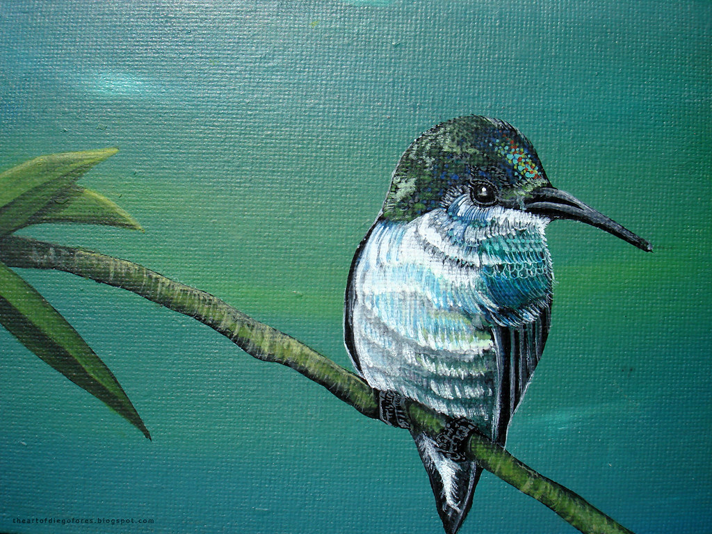 acrylic painting - bird 008