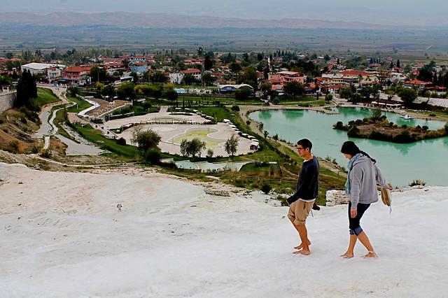 Walking at Pamukkale