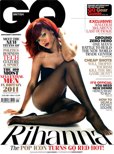 RIHANNA GQ UK JANUARY 2011 ISSUE. sexy ass rihanna in the january 2011 issue of gq magazine