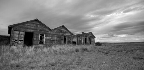 Abandoned cabins - Bosler, Wyoming