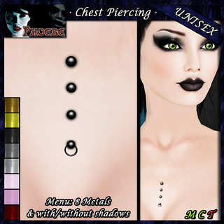 *P* Unisex Chest Piercing K3 ~8 Metals~ PMHH Gift