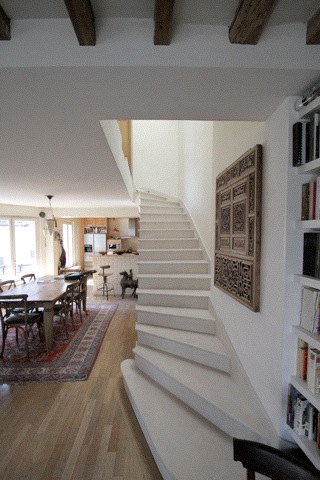 Stairs & Dining room Boule Rouge