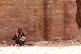 Traditional musician, Petra, Jordan.