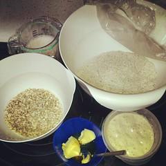 Todo preparado. Pan de leche de espelta y avena #panarrismo #panarra