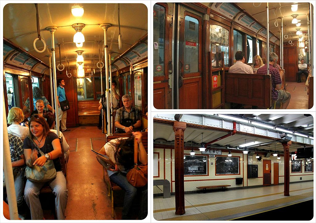 buenos aires argentina wooden subway