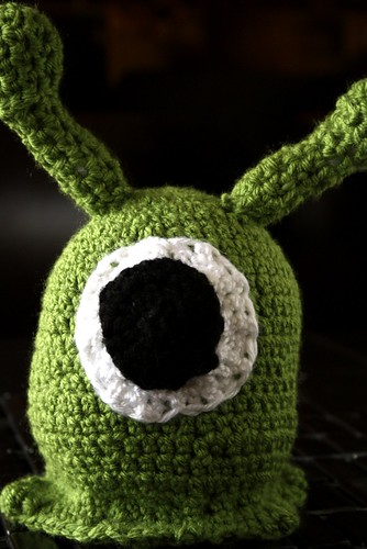 Crocheted Futurama Brain Slug