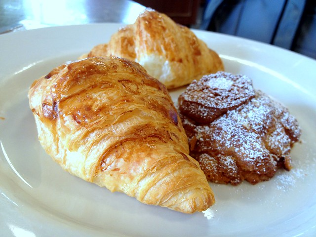 Croissant and Almond Croissant
