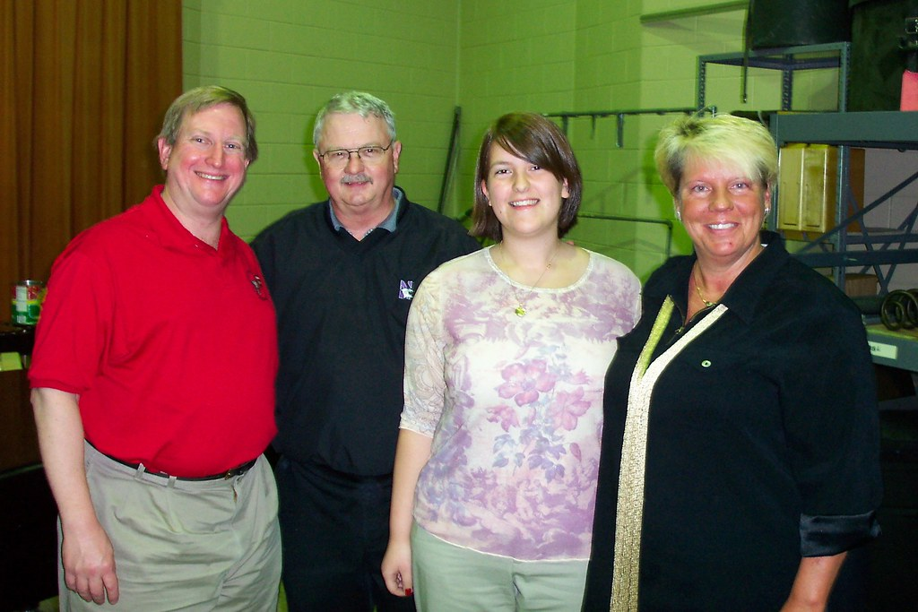 My dad, his high school band director, Dr. Don Owens, me and my high school band director Raeleen Horn