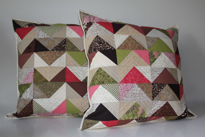 Chevron Geese Pillows Finished
