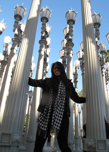 Lori's first visit to Urban Light at LACMA