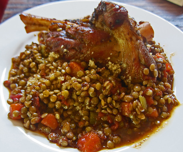 Lamb Shanks Braised with Lentils and Curry | Flickr ...