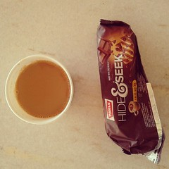 Coffee flavored biscuits with tea.... :-D