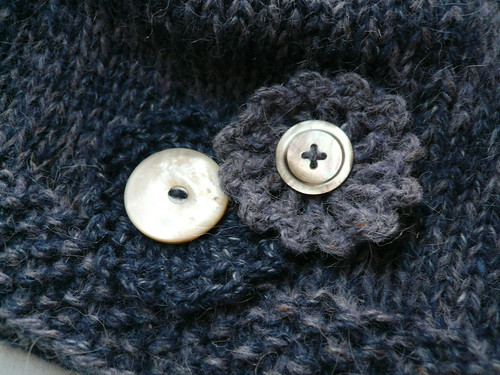 Button and flower trim