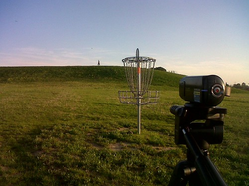 Disc Golf Basket: Video Camera Pic