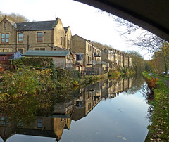 Reflections in the Rochdale Canal at Luddendenfoot