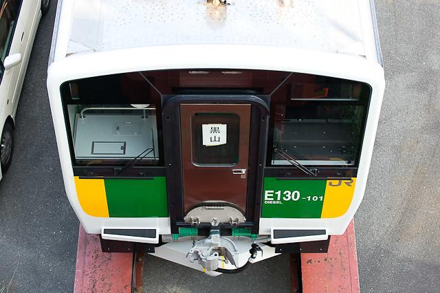 JR東日本久留里線 キハE130系100番代 101,102 搬入