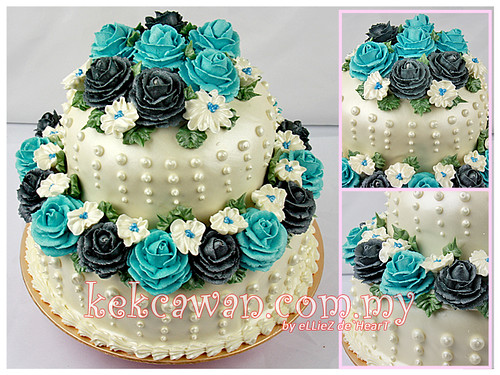 Steam Buttercream Cake for Wedding