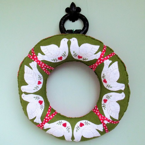 Christmas Dove Wreath