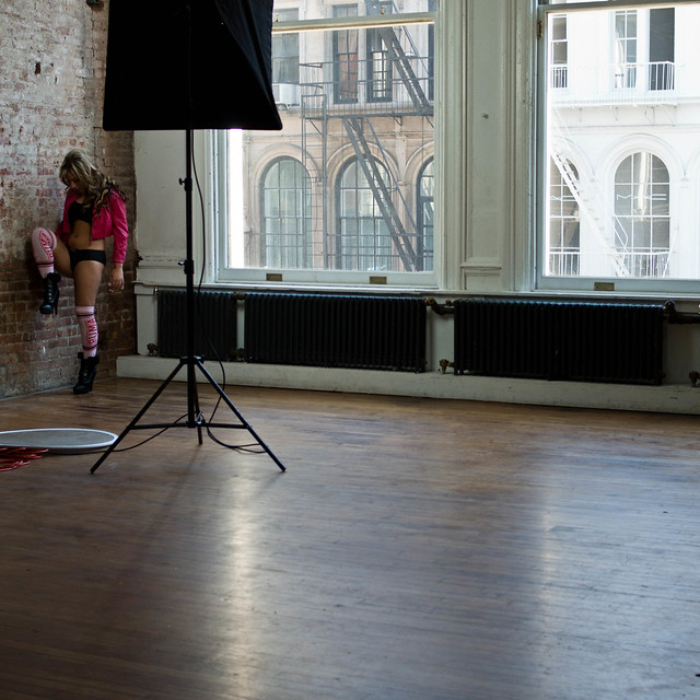 Scene from American Photo Model Shoot, NYC 2012