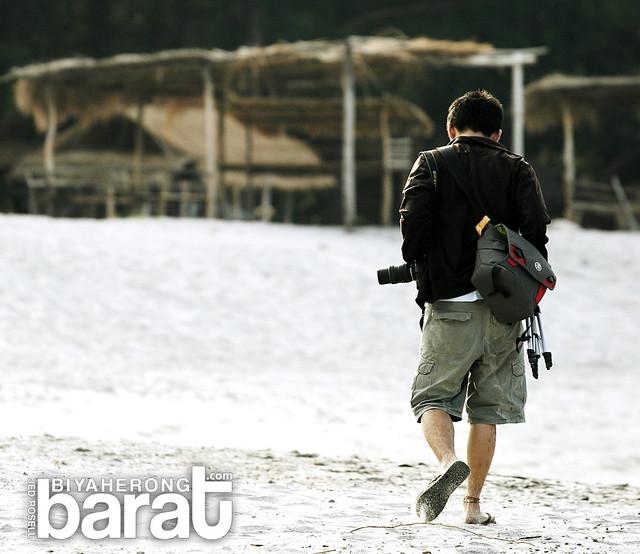 walking in Nagsasa Cove Zambales