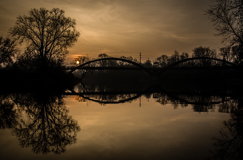 bridge fog mi sunrise cloudy michigan midland tridge midlandmi chippewariver midlandmichigan justpentax tittabawasseeriver pentaxk5 imgp2010