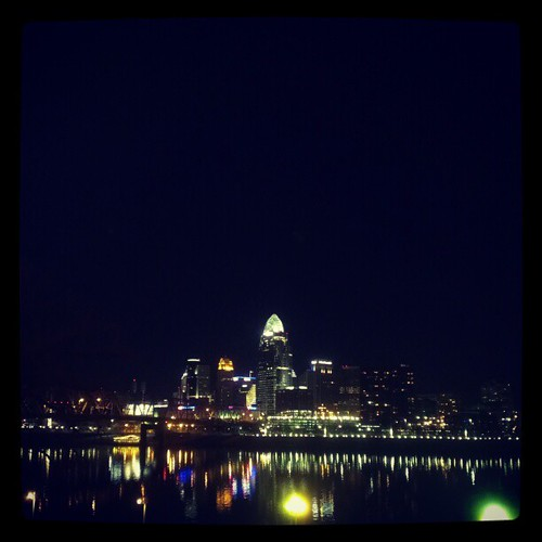 @DowntownCincy as seen from Newport on the Levee...
