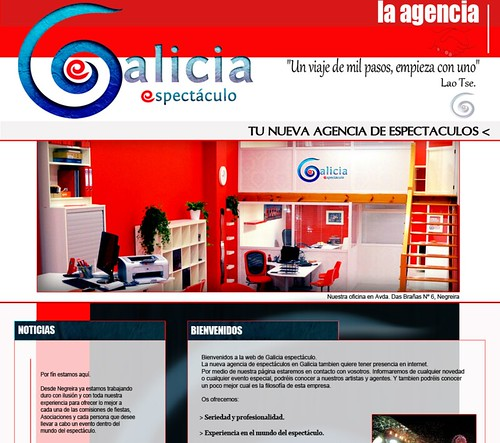 Galicia Espectáculos - web