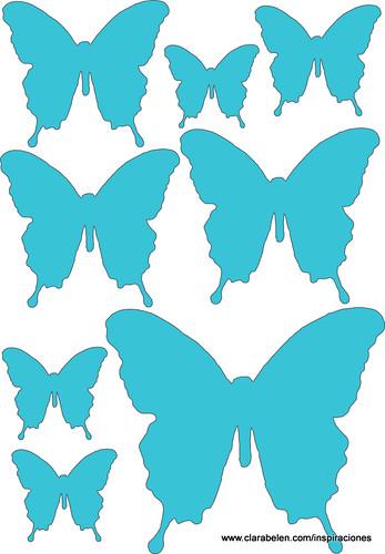 Inspiraciones manualidades y reciclaje manualidades for Mariposas de decoracion para pared