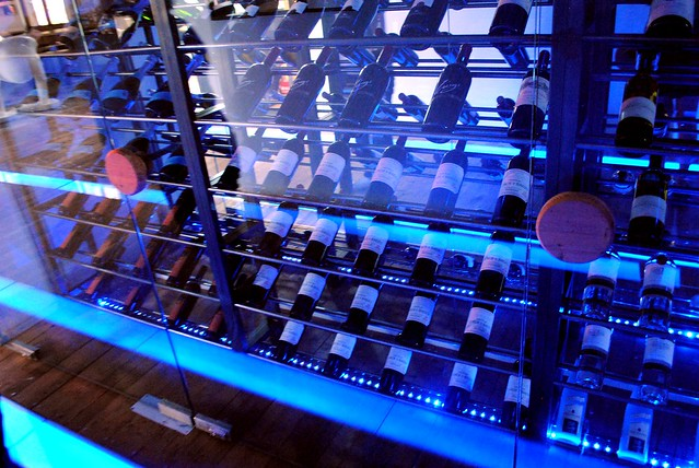 Racks of wine