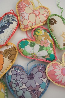 hearts from vintage sheets!