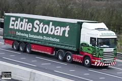 Scania R440 6x2 Tractor - PO12 ZNV - Devon Katie - Green & Red - 2012 - Eddie Stobart - M1 J10 Luton - Steven Gray - IMG_0323