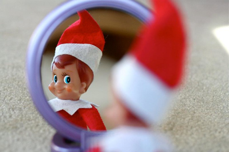 Mirror Mirror on the Wall Elf on the Shelf. Click for more ideas! #elfontheshelf