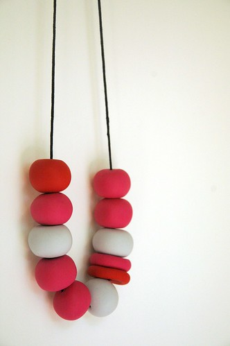 Polymer Clay beaded Necklaces