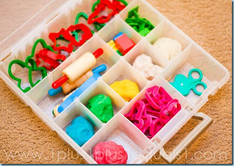 Busy Hands Playdough Box (Photo from 1+1+1=1)