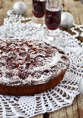 пряничный пирог с вишней.2