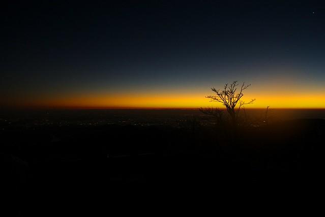 蛭ヶ岳小屋からの日の出