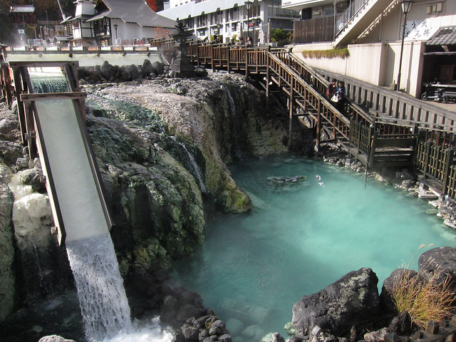 Hot spring at Kusatsu, Japan / 草津温泉
