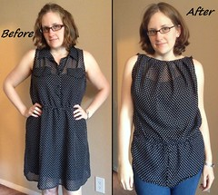 Polka Dot Top Before & After