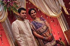 bride(1.0), wedding reception(1.0), wedding(1.0), marriage(1.0), sari(1.0), ceremony(1.0),