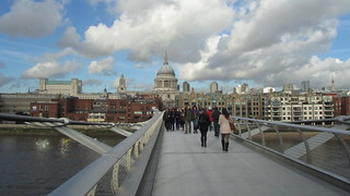 St. Pauls Cathedral, and Millenium Bridge, London - November, 2012