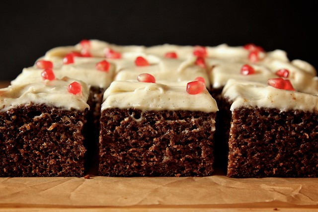 orange gingerbread with cream cheese frosting