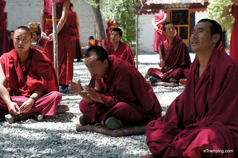Monks during their debate