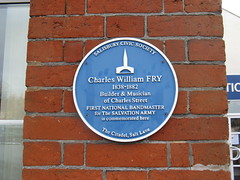Photo of Charles William Fry blue plaque