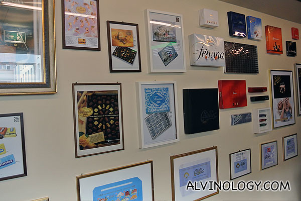 Wall of assorted chocolate posters