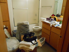 Unpacking Progress-Day 2 bathroom