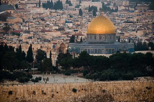 morning sunrise gold dawn jerusalem domeoftherock holy sacred templemount