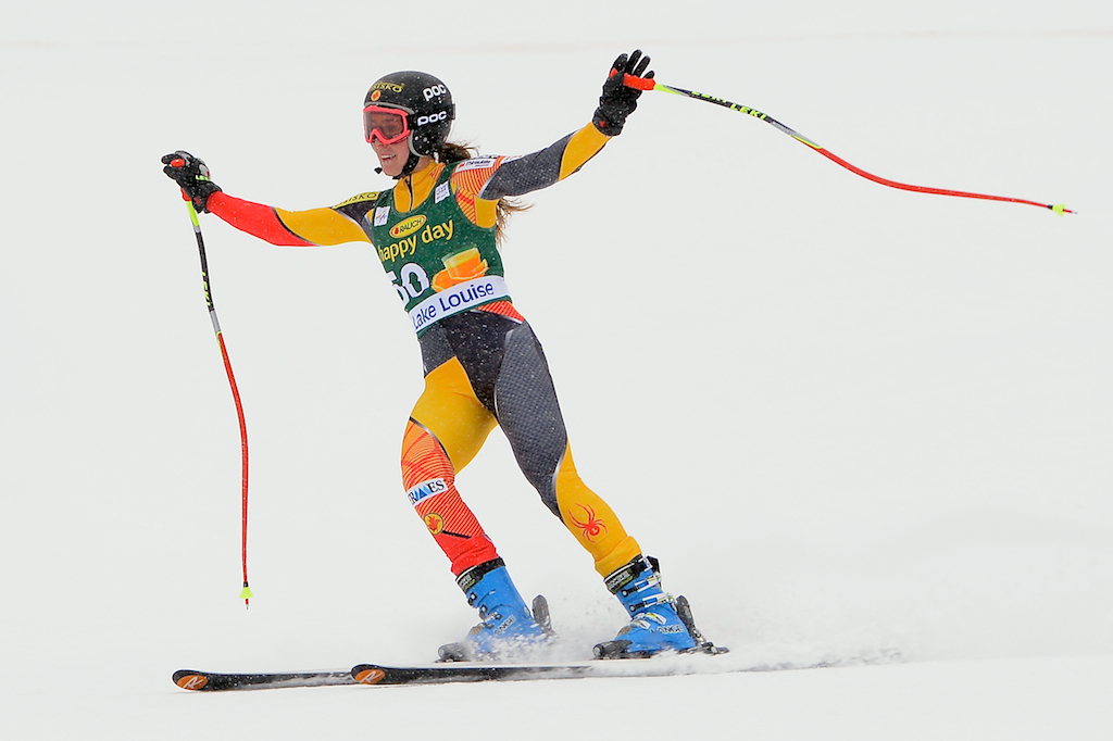 Marie-Michèle Gagnon pleased with her top-30 performance in the Lake Louise super-G.