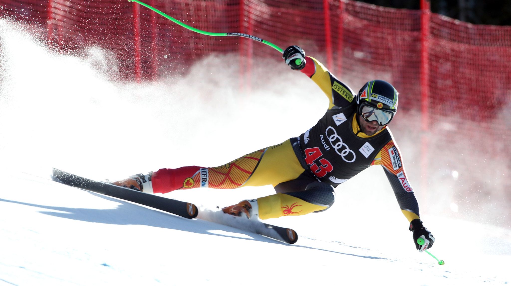 Manuel Osborne-Paradis during men's downhill training in Beaver Creek.