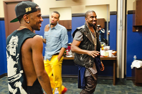 Big Sean and Kanye West after concert at The Palace of Auburn Hills, 12/01/12