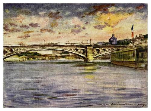 004-Por la tarde en el Sena-Paris (1909)-Mortimer Mempes